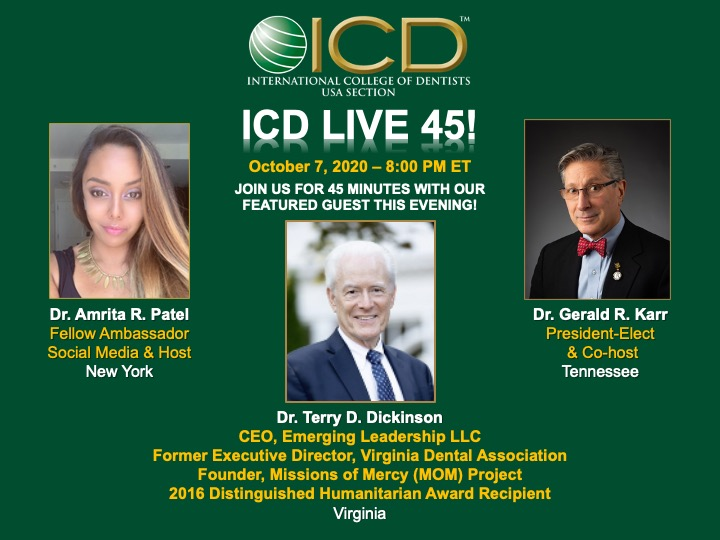 LIVE 45 Interview 10-7-2020 with Dr. Terry D. Dickinson
