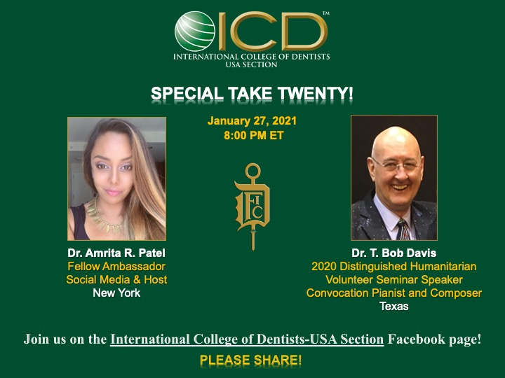 ICD TAKE TWENTY on 1-27-2021 with Dr. T. Bob Davis